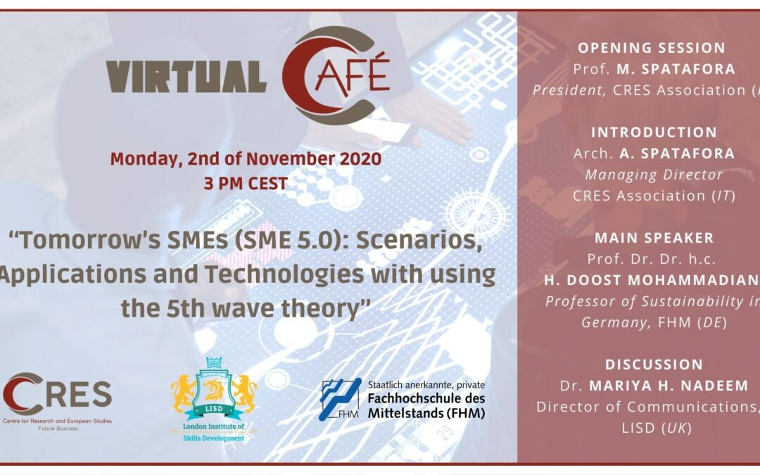 November 2, 2020 – Fourth Virtual Café